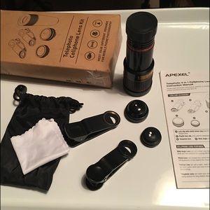 Pro 4-1 Telephoto Lens Kit Cellphone Photography